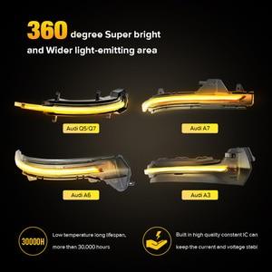 Image 2 - 2 adet dinamik yan ayna ışık LED dönüş sinyali göstergesi flaşör Audi A3 8V S3 RS3 S hattı a6 C7 S6 4G RS6 A7 S7 RS7 Q5 8R Q7