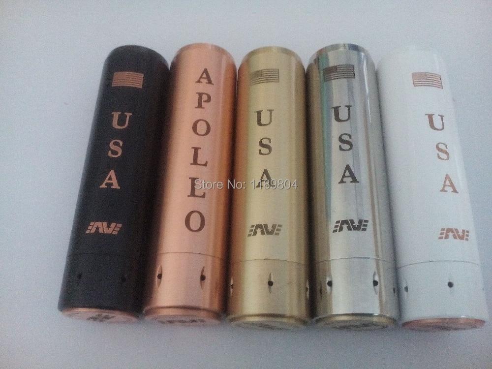5pcs Apollo Mod USA Black SS Copper brass Mechanical Mods e font b cigarette b font