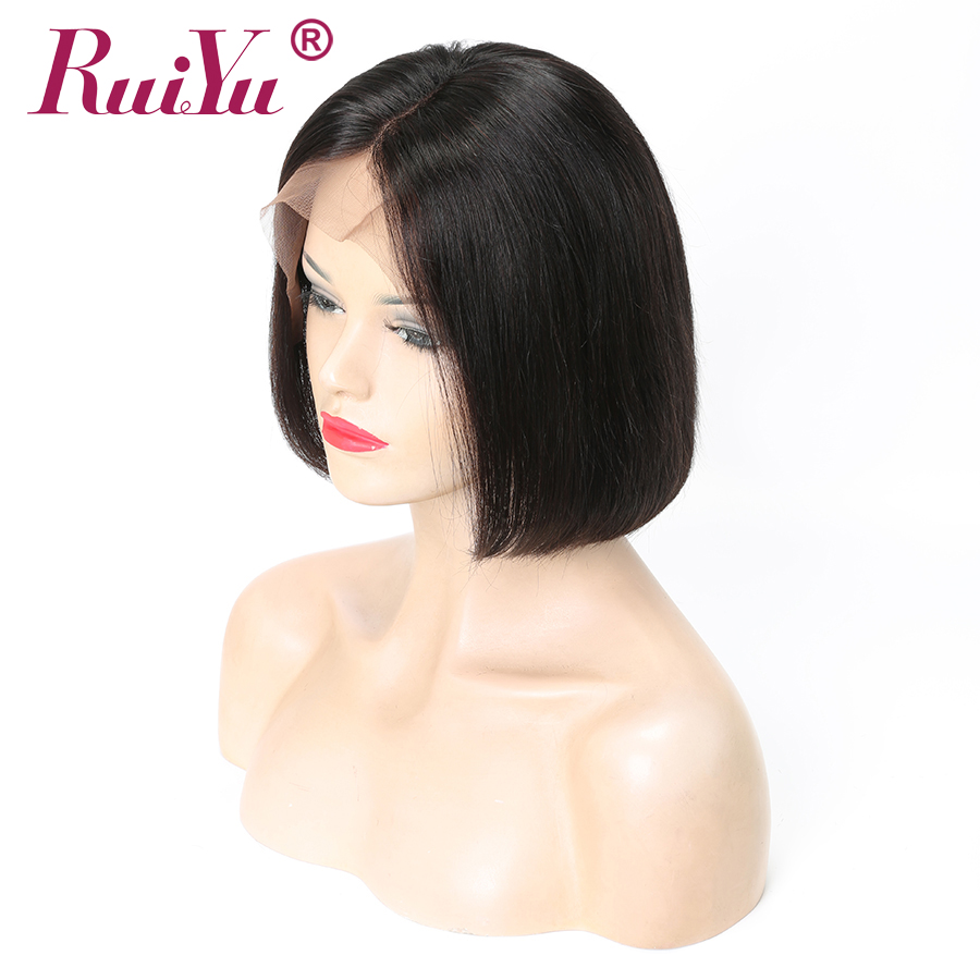 Short Bob Wig 12x6 Brazilian Straight Lace Front Wig With Baby Hair 150 Density Human Hair