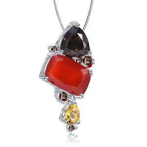 Image 5 - GEMS BALLET Natural Carnalian Gemstone Fine Jewelry 925 Sterling Silver Handmade Candy Red Agate Pendant Necklace For Women