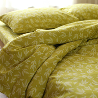 Thick 100 Cotton Leaves Print Comfortable Bedding Set Bed Clothes King Size Ducet Cover Set Duvet