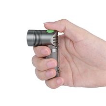 Uniquefire 3 Mode Super MINI Flashlight Angle Shape Design XPE 250 LM Degree For Rechargeable Battery AA
