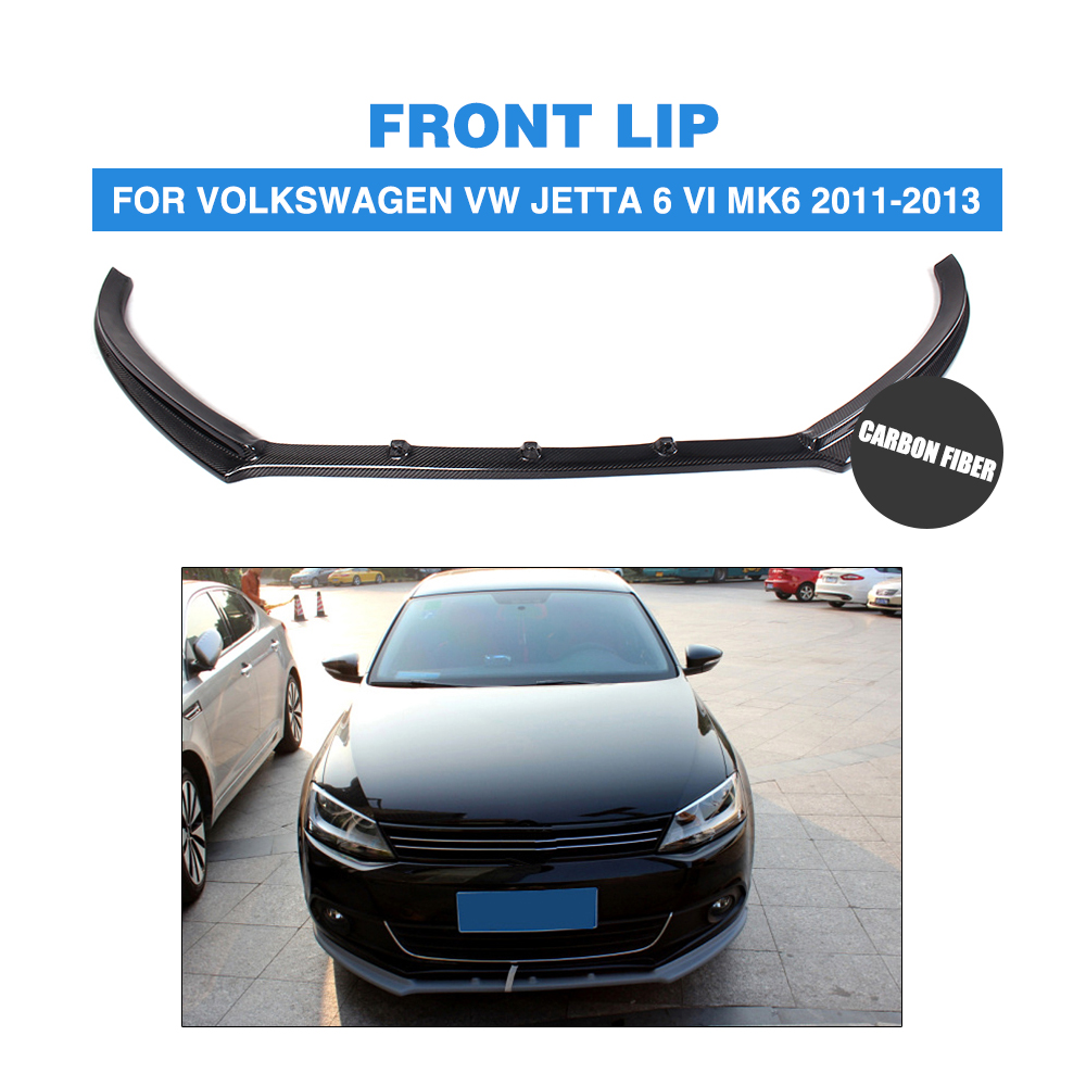 Carbon Fiber / FRP car front lip bumper spoiler Chin for Volkswagen VW Jetta 6 VI MK6 2011-2013 Car Tuning Parts