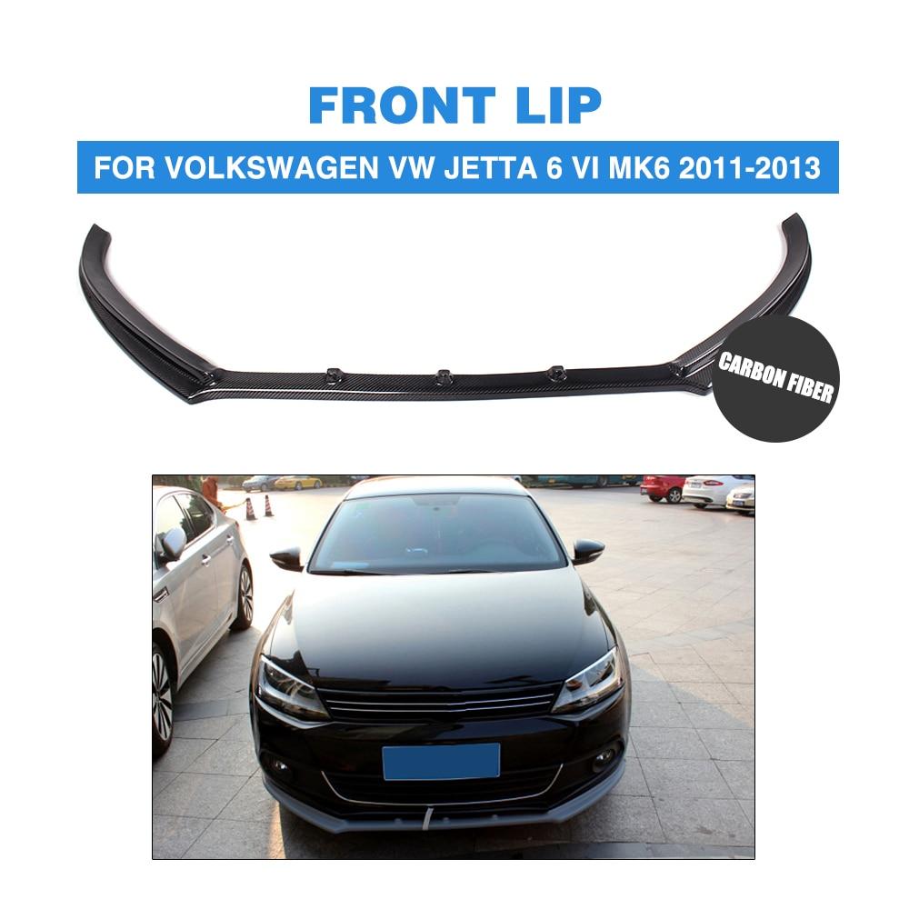 Carbon fiber frp car front lip bumper spoiler chin for volkswagen vw jetta 6 vi