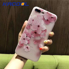 KACOOL Flower Patterned Case For iPhone 6 6s 7 Plus Case Soft Silicone Flora Protective Cover For iPhone 7 7 Plus Phone Cases