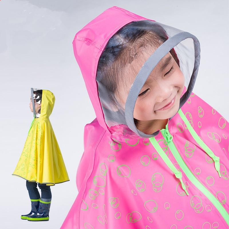 אופנה מעיל גשם אדיר לילדים ילדים שקופים מעיל גשם פונצ'ו chubasqueros mujer capa de chuva