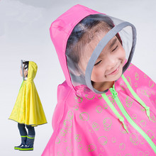 2015 Fashion Impermeable raincoat for children transparent kids EVA Rain Coat Poncho chubasqueros mujer capa de chuva