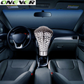 Onever Universal Car Manual Gear Shift Knob Snake Shifter Red Led Eyes Snake Gear Shift Knob Stick Shift Knob