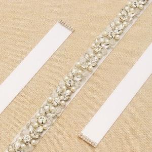Image 5 - MissRDress Handmade Wedding Belt Silver Crystal Bridal Sash Rhinestones Pearls Bridal Belt For Wedding Dresses JK927