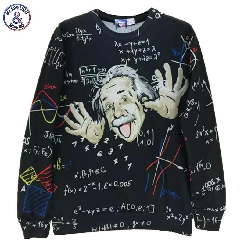 Mr.1991INC Math science hoodies for boy Graphic 3d sweatshirts men/women funny print Einstein hoodie casual tops G1860