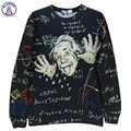 Mr.1991INC Math science hoodies for boy Graphic 3d sweatshirts men/women funny print Einstein hoodie casual tops G1860