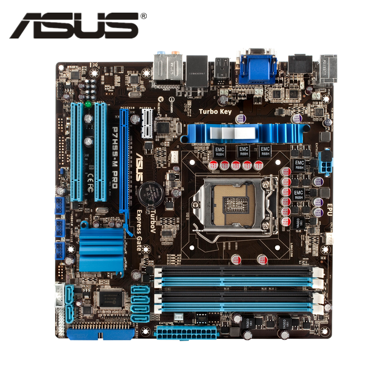ASUS P7H55-M Pro Original ASUS motherboard Socket LGA 1156 uATX DDR3 HDMI DVI VGA USB2.0 16GB H55 Desktop Mainboard original used desktop motherboard for asus m4a88t m a88 support socket am3 4 ddr3 support 16g 6 sata2 uatx