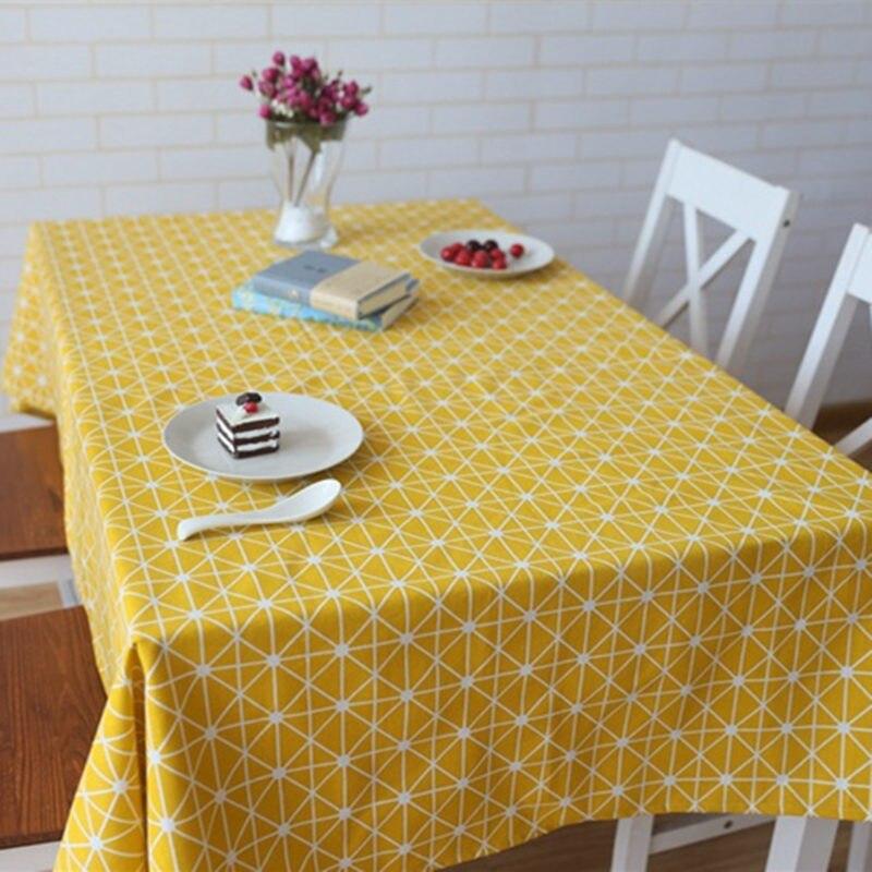 Япония Стиль Скатерть льняная плед Скатерти прямоугольный Кофе Скатерти S для дома