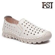 купить FSJ Genuine Cow Leather Woman Mules Flats Neutral Mature Solid Slip On Summer Sewing Casual Round Toe Fashion Classics shoes по цене 3388.9 рублей