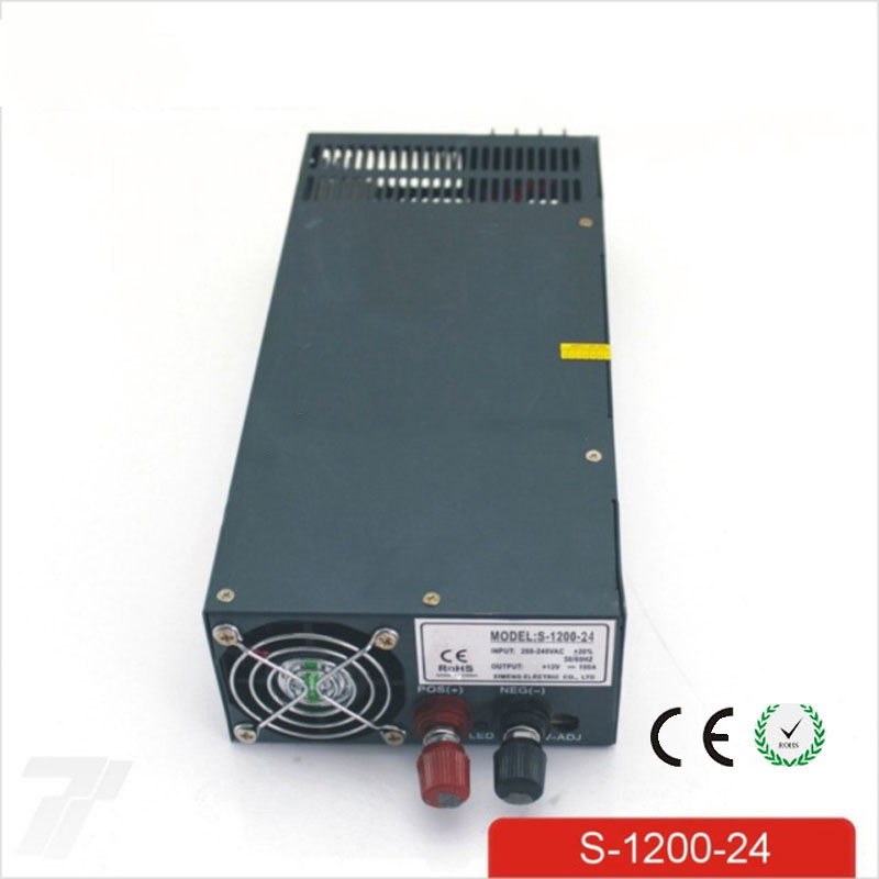 CE Soro 110V INPUT 1200W 24V 50A power supply Single Output Switching power supply for LED Strip light AC to DC UPS ac-dc