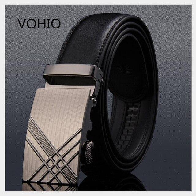 Cinturón de cuero de moda para hombre con hebilla automática de cuero  metálico ocio bayan kemer f9ccf186486a