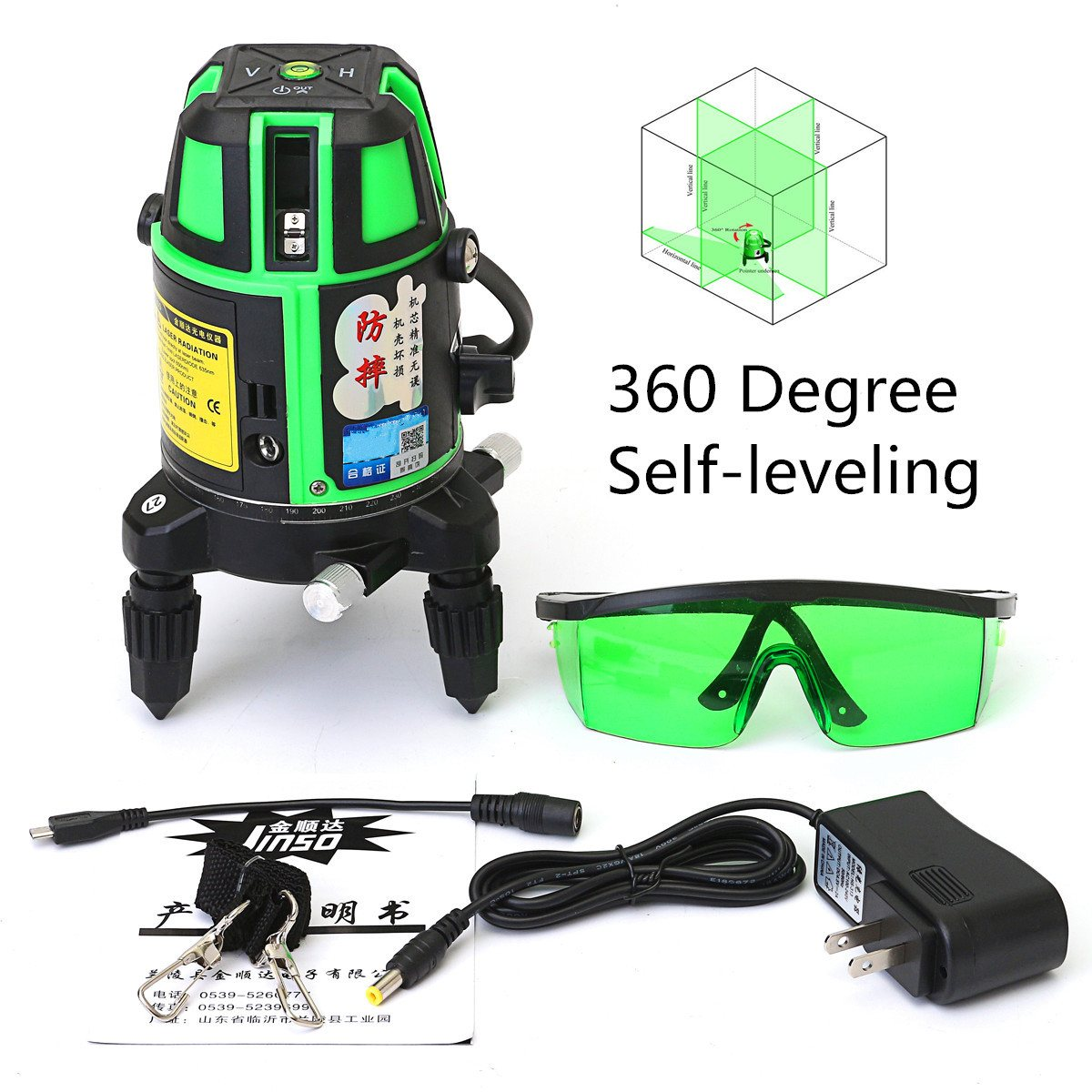 5 Lines 6 Points Green Laser Level 4V 1H 360 Rotary Self Leveling Outdoor Tools Tilt Function quality mtian level laser 5 lines 6 points instrument levels 360 self rotary 635nm corss line lazer level tools fast delivery