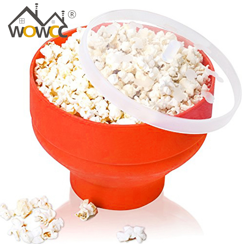 WOWCC Bowl Silicone Microwave Popcorn Maker Snack Kitchen
