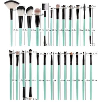 MAANGE 25pcs Makeup Brushes Set Beauty Foundation Power Blush Eye Shadow Brow Lash Fan Lip Concealer Face MakeUp Tool Brush Kit 6