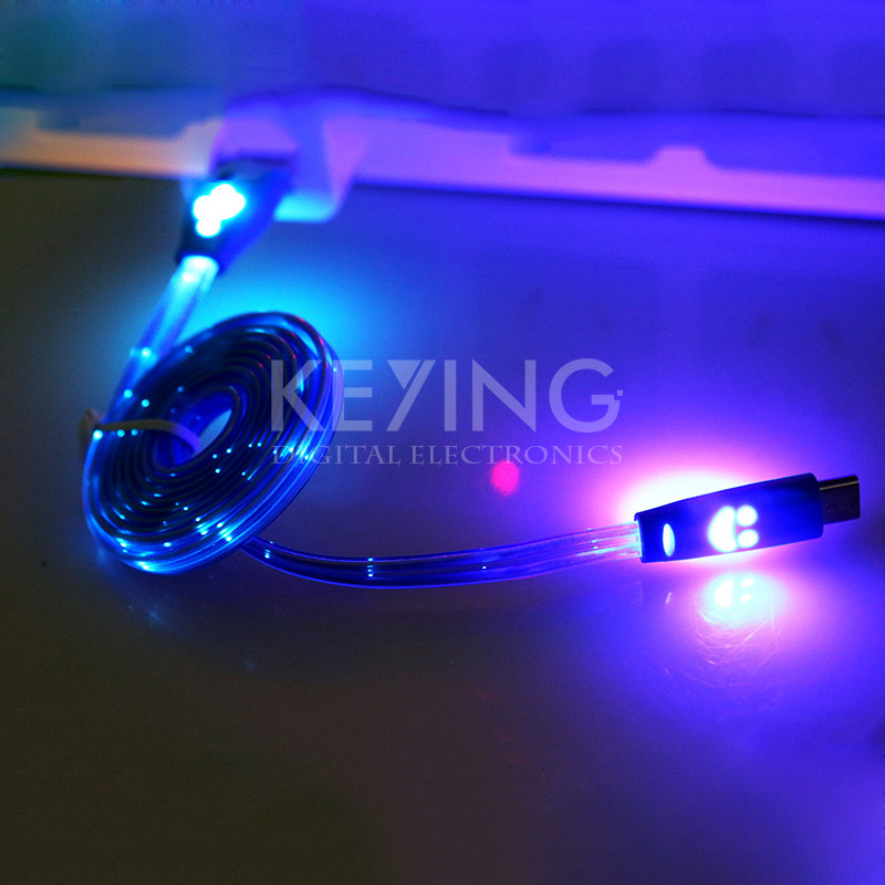 Glylezee Micro USB Cable LED Light Charger Cable Sync Data Transfer Adapter for Andriod Cellphones