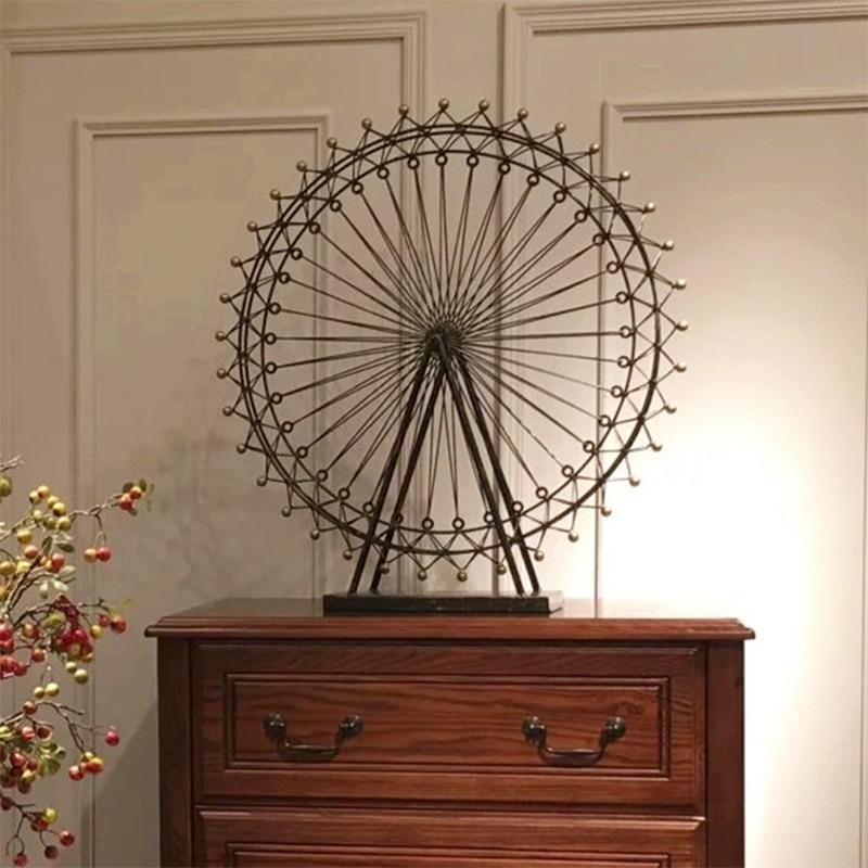 Decoraci n sal n accesorios hogar retro hierro mini noria tv gabinete decoraci n arte regalo - Accesorios decoracion hogar ...