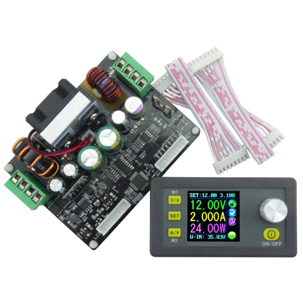 Digital Control  Buck-boost Converter Voltage Current Programmable Control Power Supply Module LCD Voltmeter dps5015 constant voltage current step down programmable digital power supply buck voltage converter color lcd voltmeter 15a