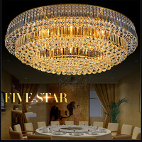 Z Modern Crystal Chain LED Art Deco Ceiling Lamp Ellipse Egg Shape Gold Luxury 7 Colors