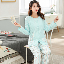 Maternity Pijamas Spring Autumn Feeding Suit Women Pajamas Long Sleeves Nursing Sleepwear Breastfeeding Clothes