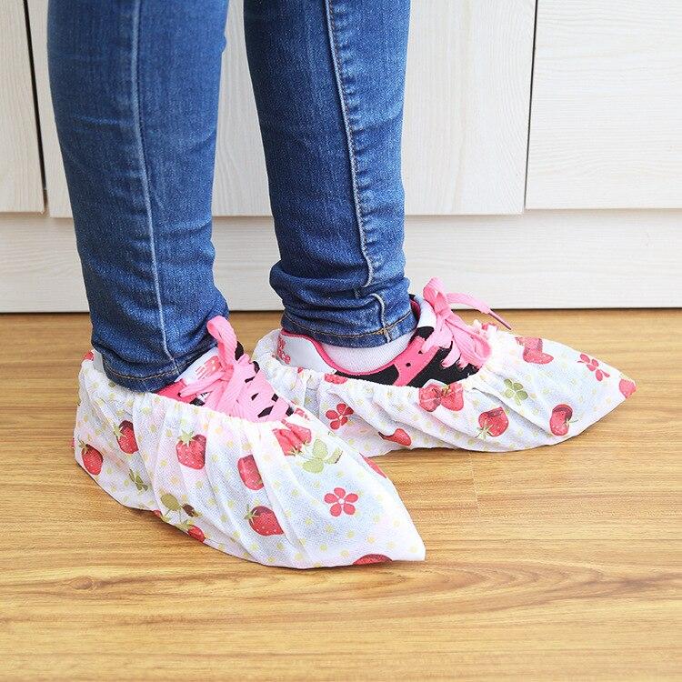 1 Pairs Fshion Frauen Schuhe Abdeckung Vlies Stoff Bequem Staub-proof Hause Reinigung Schuhe Abdeckungen Auf Teppich Und Etagen