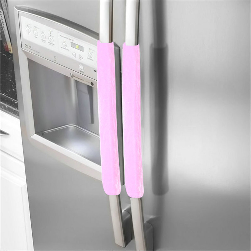 appliance:  Kitchen Appliance Handle Cover Decor Smudges Door Refrigerator Fridge Oven 2 PCS - Martin's & Co