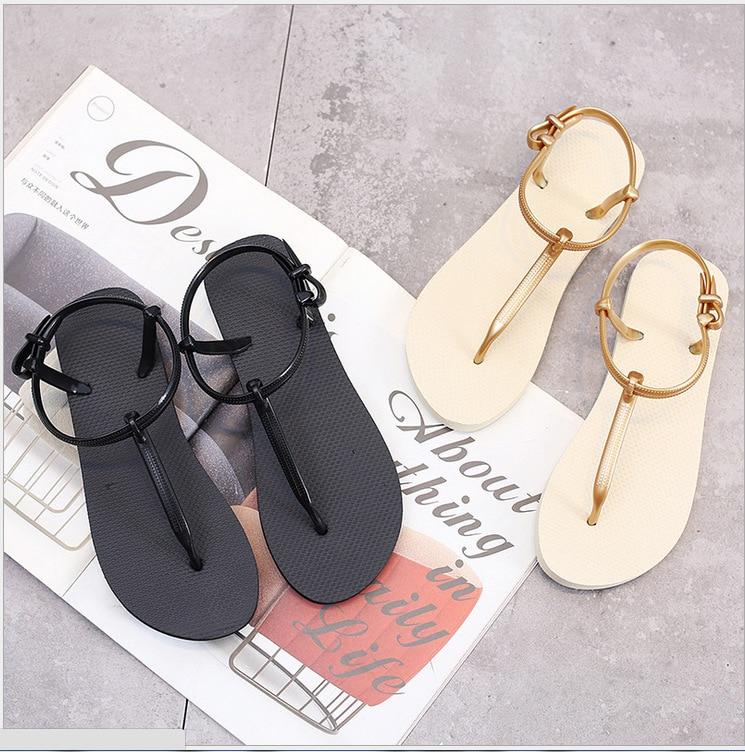 2019 PVC Roman Style Women's Cool Drag-type Lightweight Shoes