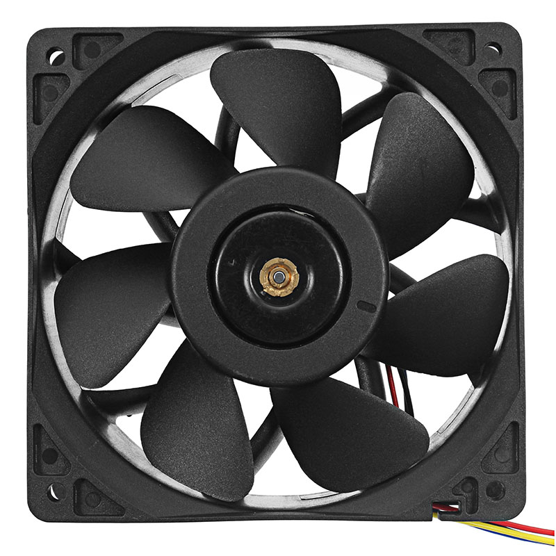 120mm CPU Cooler PC Cooling Fan 4 Pin DC 12V PC Cooling Fans Low Noise Universal for Computer Case CPU Black