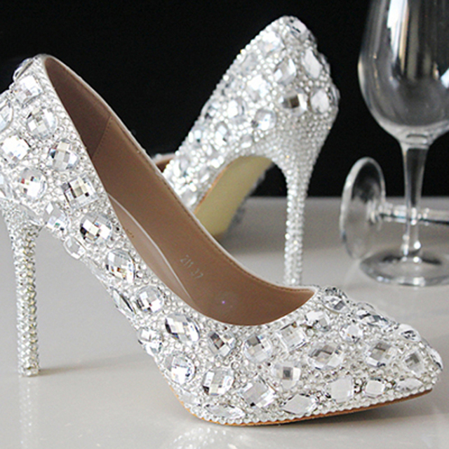 New Summer Crystal Shoes Wedding Shoes Bridal Shoes