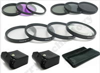 55MM Macro Close Up Set + UV CPL FLD/ ND 2 4 8 Filter Kit for Canon & Nikon DSLR