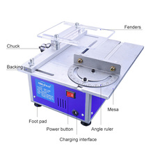Electric Table Saw Cutting Machine Multifunctional Sawing Power Tool Cutting Polishing Sculpting Saws Precision Carpentry h2