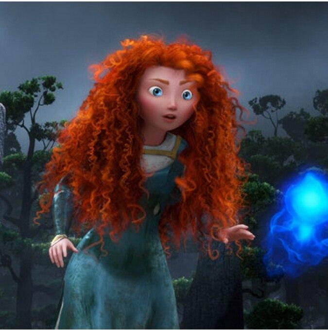 Free Shipping Women s Synthetic Hair Long Orange wavy wig Anime Movie Brave  MERIDA Cosplay Wig on Aliexpress.com  00662d58f