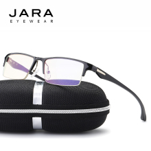 JARA Titanium Radiation Protection HD Eyeglasses Frame TR90 Driving Computer Glasses Men Anti Blue Ray UV400 Goggle Eyewear J268