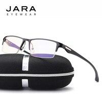 JARA Titanium Alloy Radiation Protection Sports Eyeglasses TR90 Driving Computer Glasses Oculos Male Anti Blue Ray