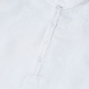 Image 3 - سيموود 2020 وصل حديثًا قمصان صيفية بأكمام قصيرة للرجال 100% لون أبيض كتان ملابس ضيقة مقاسات كبيرة CS1534