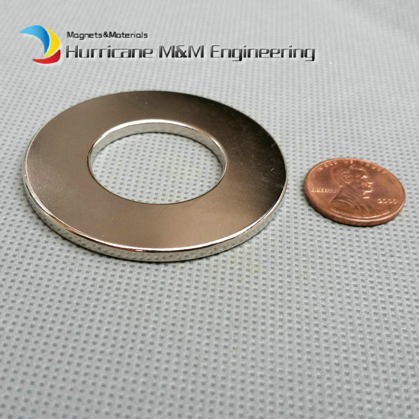 4pcs NdFeB Magnet Ring OD 50x25x3 (+/-0.1)mm thick Strong Neodymium Permanent Magnets Rare Earth Magnetic Tube Precision arrival 8pc 50 25 12 5mm craft model powerful strong rare earth ndfeb magnet neo neodymium n50 magnets 50 x 25 12 5 mm