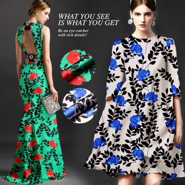 dade58e2db2e5 Jenny Ağır ipek kumaş baskı bez 100% ipek streç saten elbise malzeme Turkuaz  Gül
