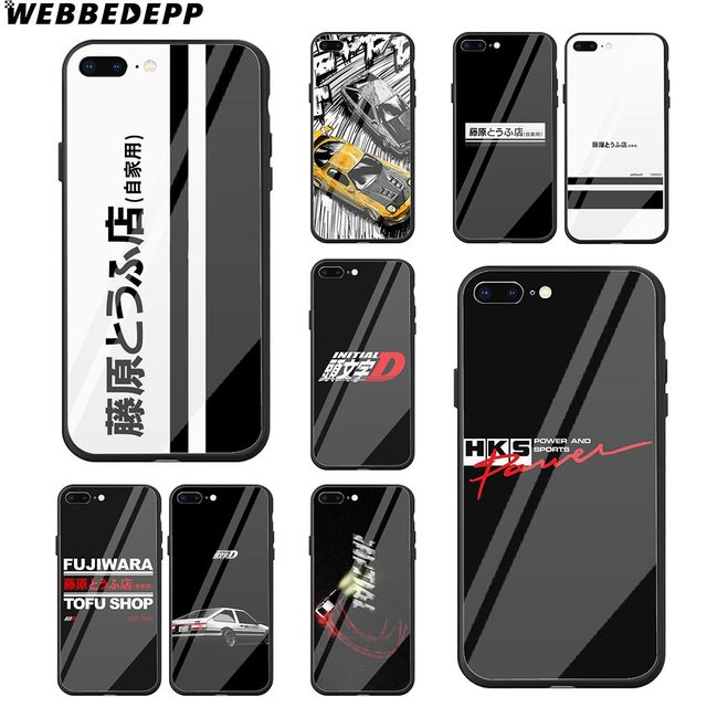 buy popular 3f41e 58293 US $6.99 |WEBBEDEPP INITIAL D AE86 Tempered Glass Phone Case for Apple  iPhone Xr Xs Max X or 10 8 7 6 6S Plus 5 5S SE 7Plus-in Fitted Cases from  ...