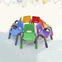 1 conjunto/6 pçs colorido moderno plástico pe crianças cadeira para crianças estudo/comer/aprendizagem jardim de infância segurança engrossar pequena criança cadeira
