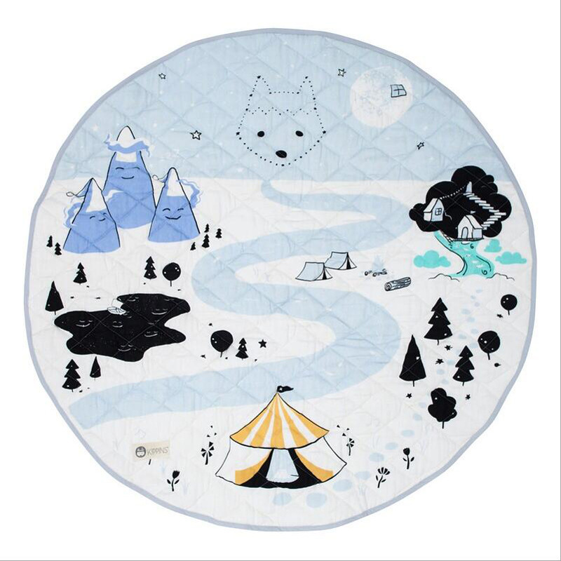 Lovely Cartoon Baby Play Mats Crawling Rug Carpet Blanket Nordic Kids Room Decor ...