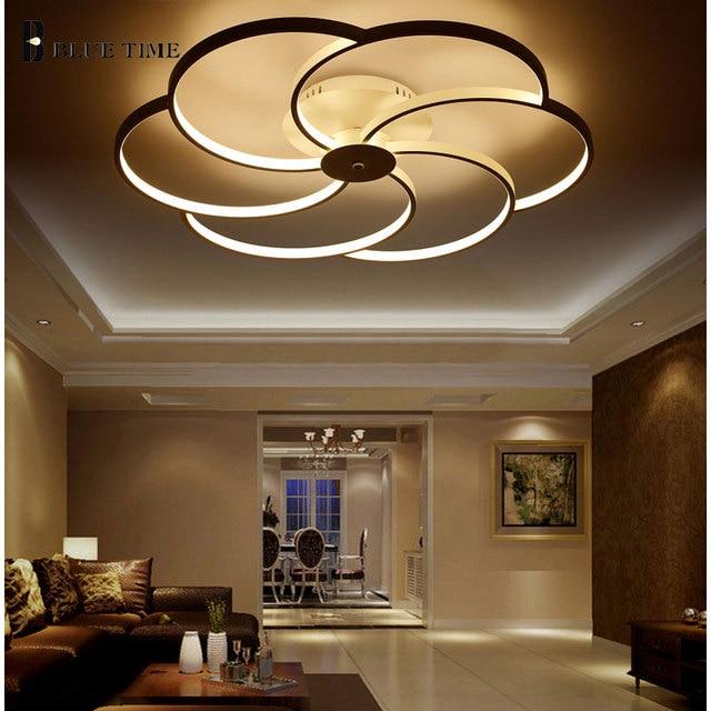 Super mince Blanc LED Plafond Luminaire LED Anneau Lustre lumi re Grand Encastr LED Cercles Lampe.jpg 640x640 5 Unique Luminaire Led Plafond Pkt6