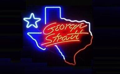 Custom George Strait Texas Neon Light Sign Beer Bar