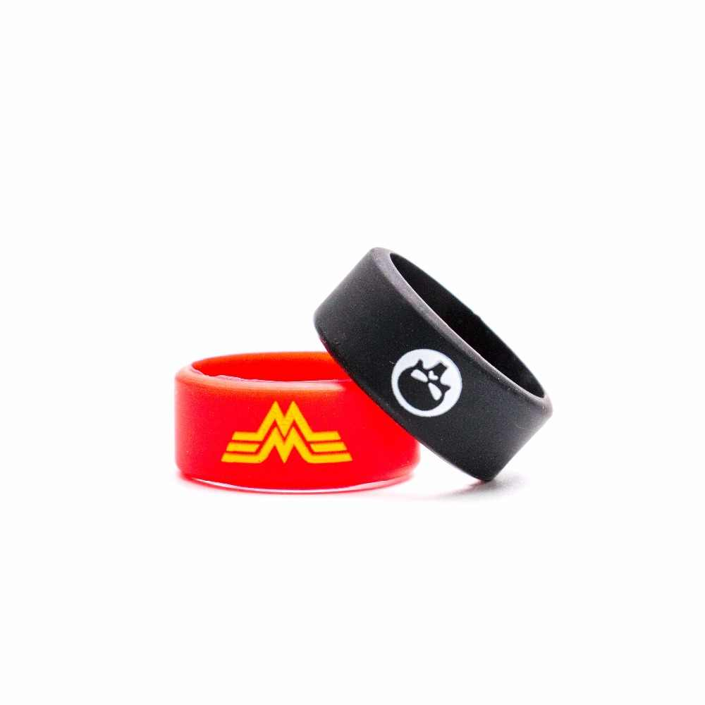 Volcanee Silicone Rubber Ring Vape Band 6mm Width Decorative Protection Band for eCig 22mm Atomizers DIY Accessories (10pcs/lot)