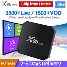 X96 Mini IPTV Receiver Box Portugal Turkish IP TV Box S905W 4K H.265 WiFI IP TV UK Nordic Greek IPTV Subscription 1 Year