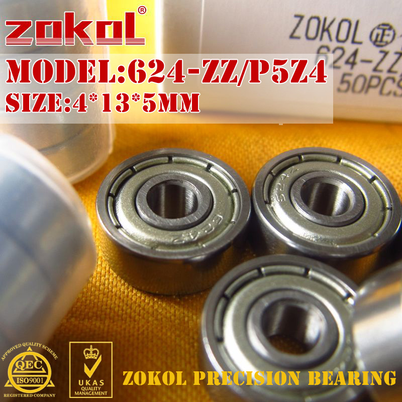 ZOKOL Bearing 624 ZZ Z Z1 P5Z4 624Z 624ZZ 624zz Miniature  Deep Groove Ball Bearing 4*13*5mm