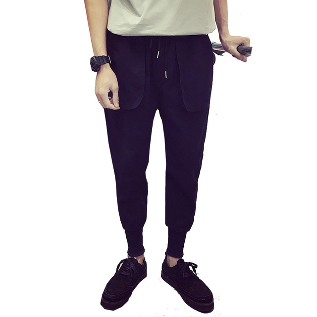 2017 Fashion Solid Pants Hip Hop Men  Leisure Pants Men Harem Pants Fitness Sweatpants M L XL XXL
